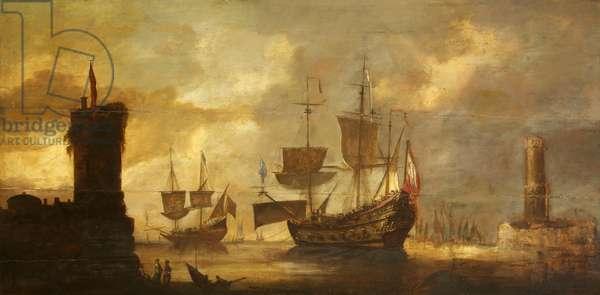 Mediterranean Port Scene