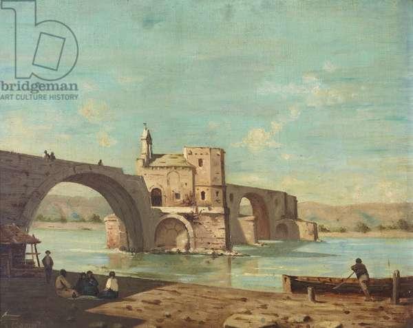 View of Le Pont St Bénézet, Avignon, France