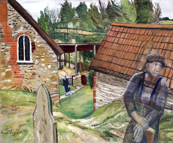 Loughwood Meeting House, 1990 (oil on canvas)