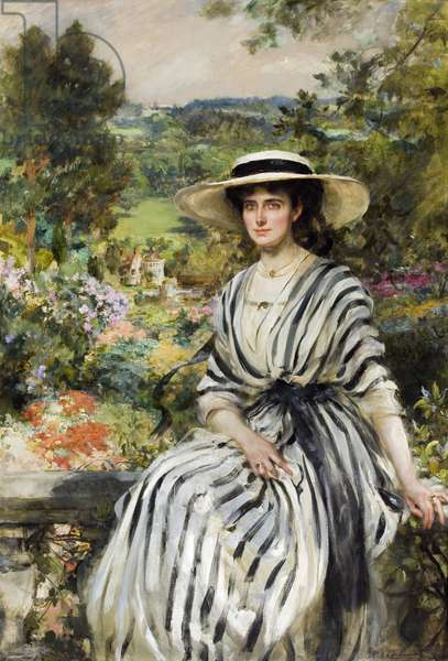 Mrs. Edward Windsor Hussey on the Terrace, 1910 (oil on canvas)