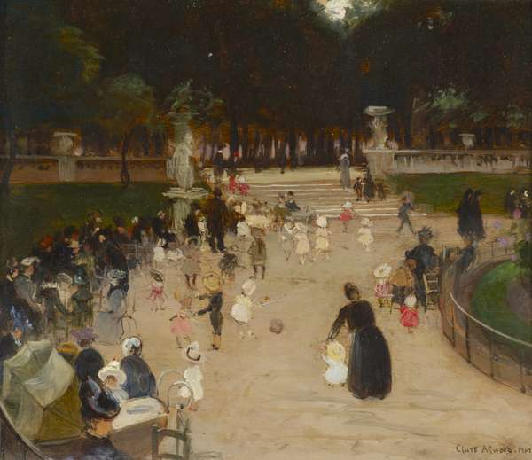 The Luxembourg Gardens, Paris, c.1958 (oil on panel)