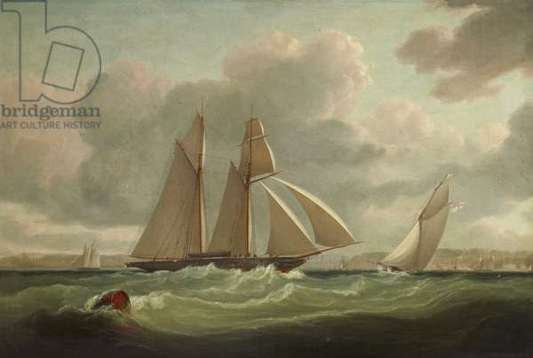 The 'Camilla', of the Royal Yacht Squadron, when owned by Henry Montagu Upton, 2nd Viscount Templeton (1799-1863), off Cowes