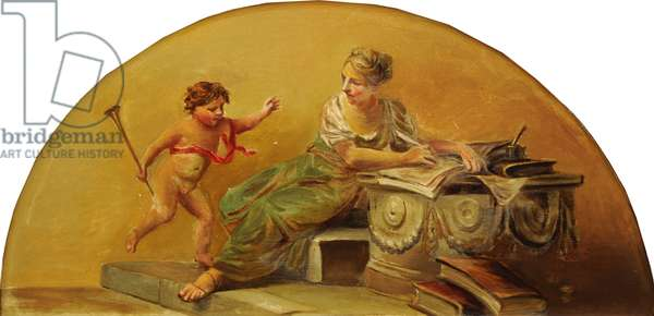 Putto with Personification of Poetry