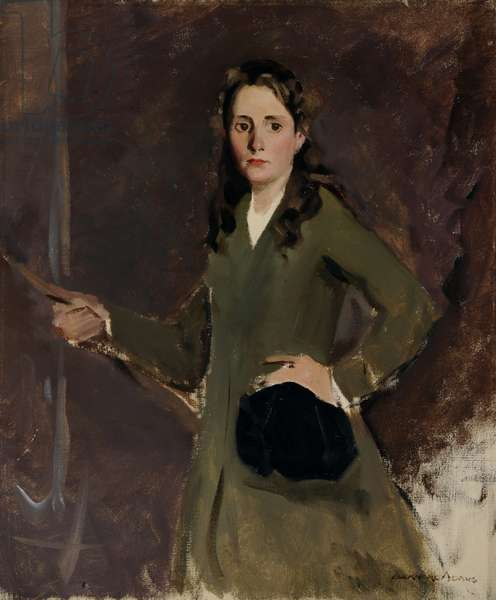 Kathleen (Kay) Elizabeth Mary Cooper Abbs in Riding Habit (oil on canvas)