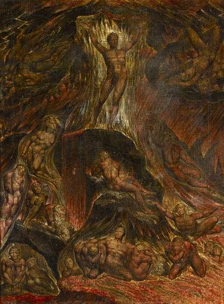 Satan calling up his Legions, from John Milton's 'Paradise Lost', c.1805-09 (tempera on canvas)