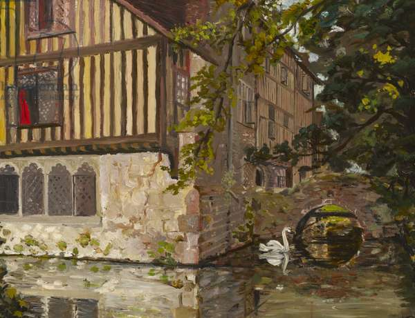 The South-East Corner of Ightham Mote, Kent, 1929 (oil on canvas)