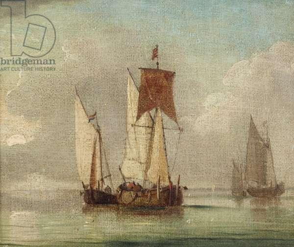 Fishing Boats on a Calm Sea