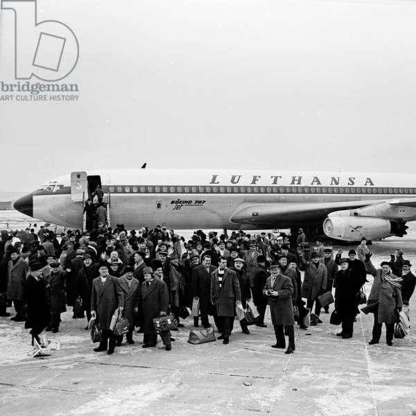 Arrival at Hamburg airport, Germany 1960s