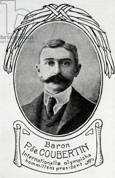 1912 Summer Olympic Games. Stockholm. BARON PIERRE DE COUBERTIN, President of the International Olympic Committee.