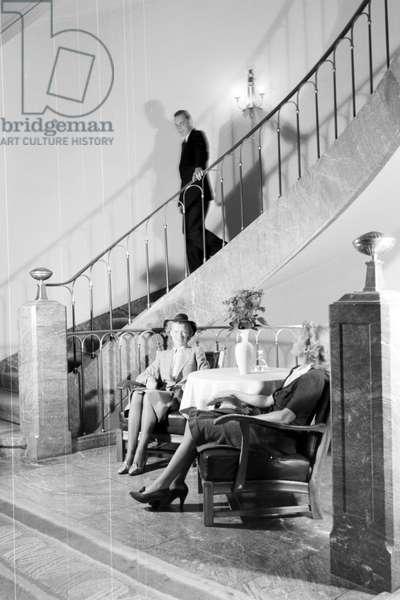The hotel elephant in Weimar, Germany 1930s (b/w photo)