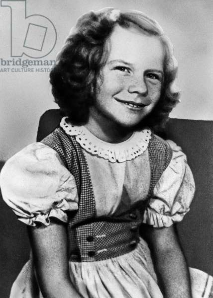 American singer Janis Joplin as a little girl, USA ca 1953