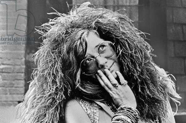 American singer Janis Joplin, USA end 1960s
