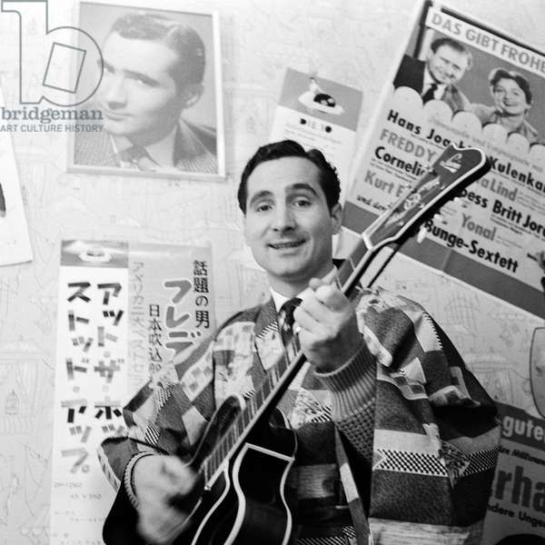 German singer Freddy Quinn, ca 1957
