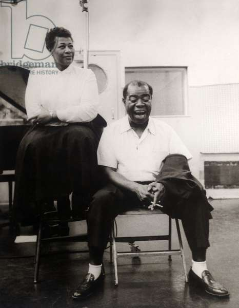 ELLA FITZGERALD and LOUIS ARMSTRONG (ca. 1956)