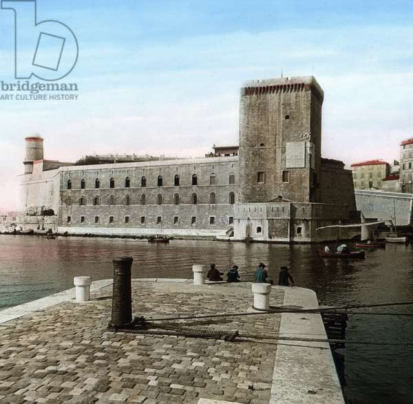 fort Saint Jean at the old port of Marseille, France 1910s.