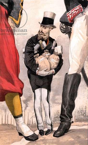 Leopold II of Belgium (1835-1909) (chromolithograph)