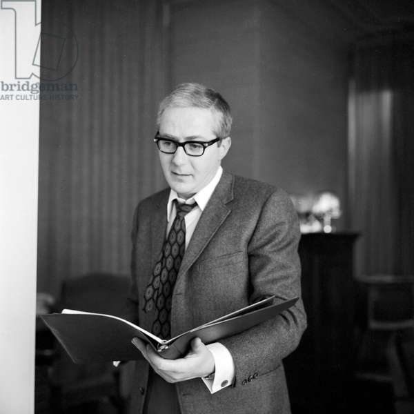 German actor Werner Bruhns, husband of journalist and author Wibke Bruhns, end 1960s