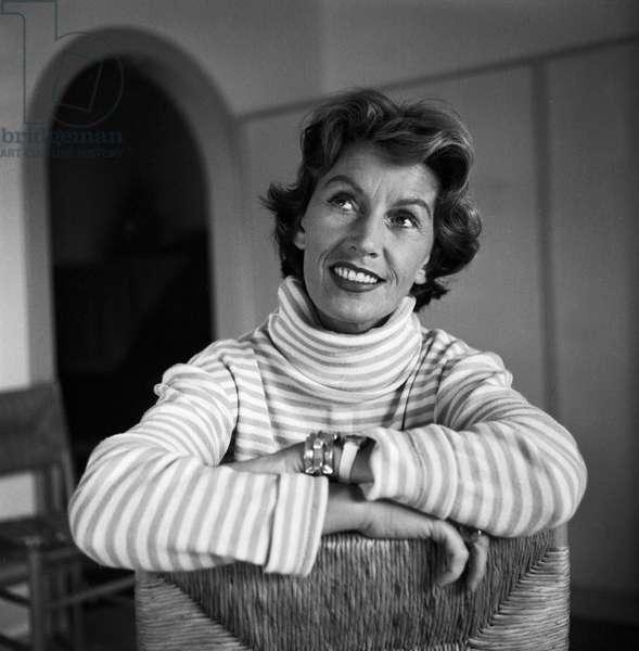 German singer and actress Lale Andersen, mid 1957