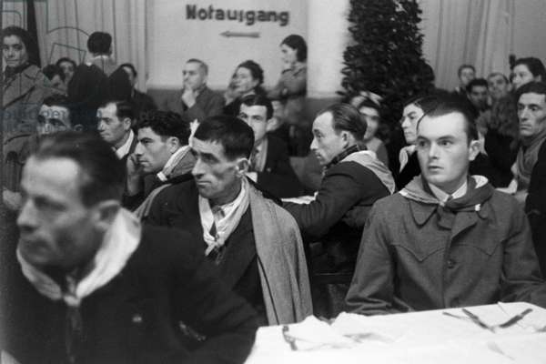 An italien wedding, Germany 1930s (b/w photo)