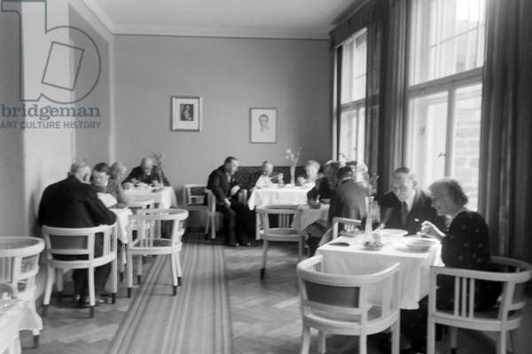 Artists retirement home in Obermeisenthal, Germany 1930s (b/w photo)