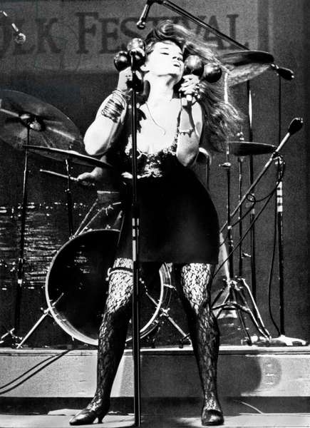 American singer Janis Joplin performing, USA end 1960s