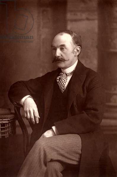 """""Thomas Hardy (1840-1928) English novelist and poet, who was born and lived most of his life in Dorset (woodburytype)"