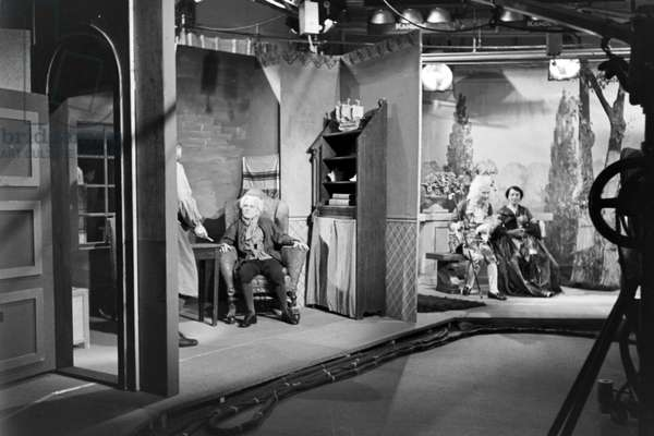 Shooting for the German Television Broadcasting, Germany 1930s (b/w photo)