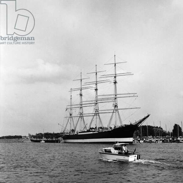 Laeisz in 1911 at Blohm & Voss and is located in the harbour of Travemünde, Germany 1960s