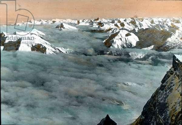 Alpine peaks in the Allgäu region