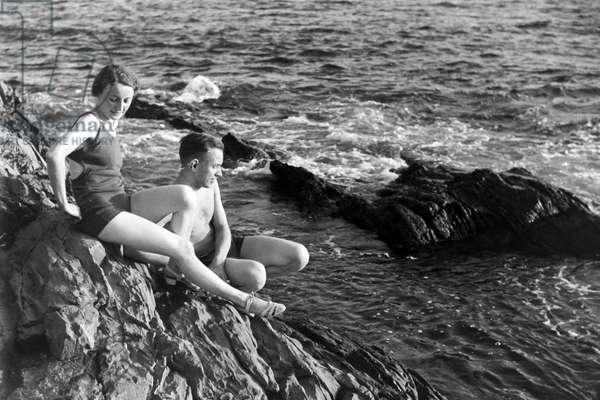 A trip to Italy, Italy 1930s (b/w photo)