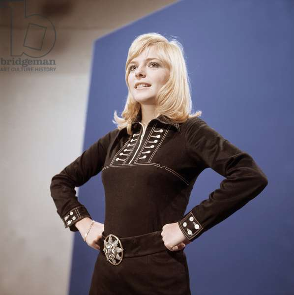 Portrait de France Gall, chanteuse francaise ne en 1947. Photographie annees 1970.