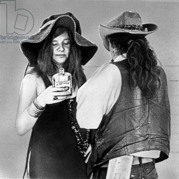 American singer Janis Joplin with Ron Pigpen McKernan of The Grateful Dead, USA end 1960s