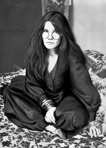 American singer Janis Joplin, USA mid 1960s
