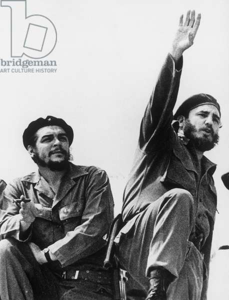Che Guevara (1928-1967) joined Castro in Mexico in 1954; a leader of the 1956-59 Cuban Revolution. Che served as president of Cuba's national bank and as Cuba's minister of industry in the period immediately following the Cuban Revolution.