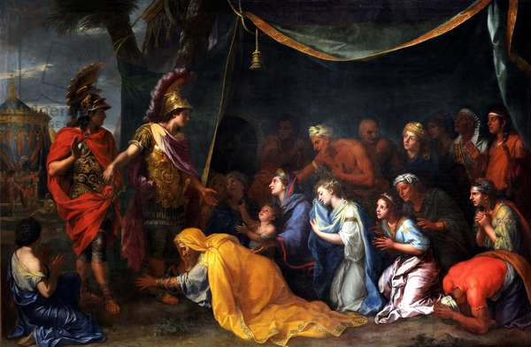 The Queens of Persia at the feet of Alexander, also called The Tent of Darius, c.1660 (oil on canvas)