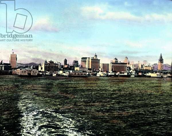 United States of America, California, Panorama view to San Francisco Bay, image date: circa 1920. Carl Simon Archive