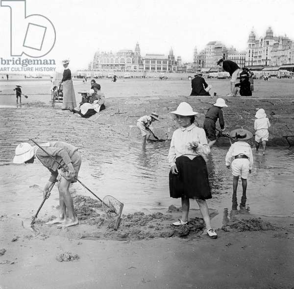 Summertime at the Oostende beach