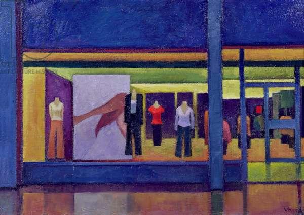 Shop Window, High Street, 2000 (oil on board)