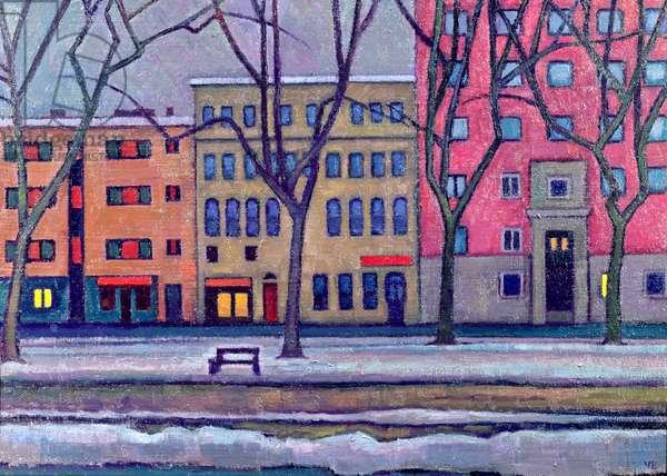 New Town, Tallin, 2003 (oil on board)