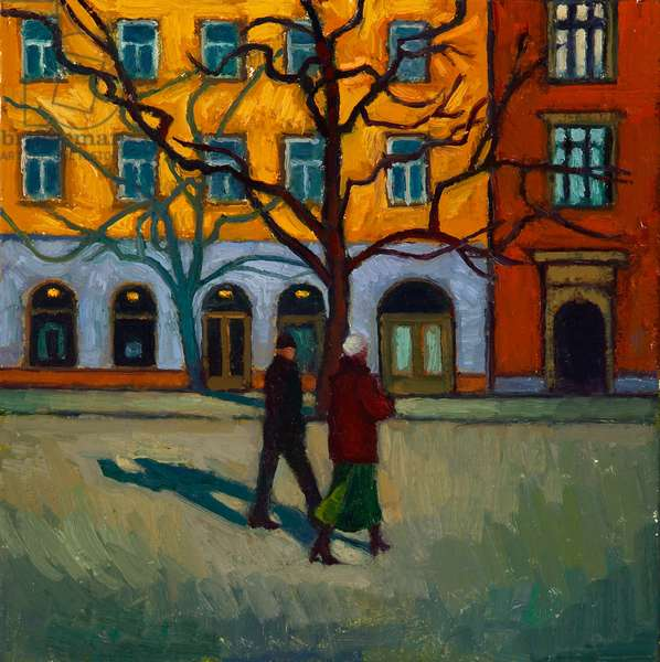 In Crakow (oil on canvas on board)