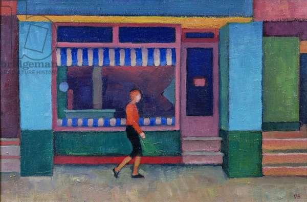 The Butcher's Shop, Chulmleigh, 2000 (oil on board)