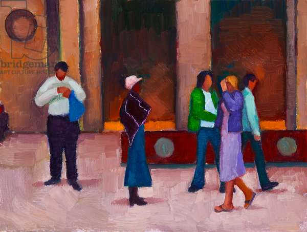 On the Station (oil on board)