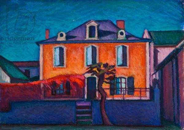 La Presbytere (oil pastel on paper)