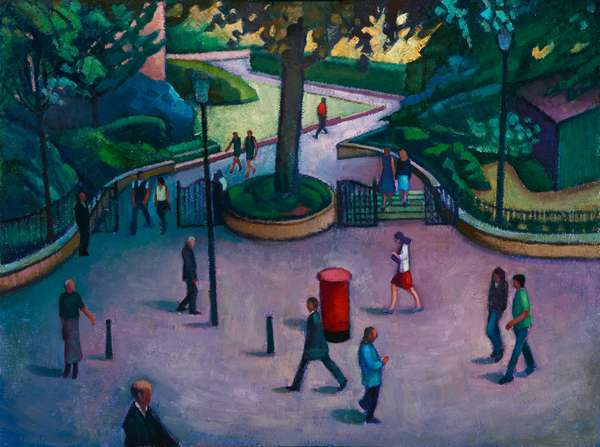 Into the Gardens (oil on board)
