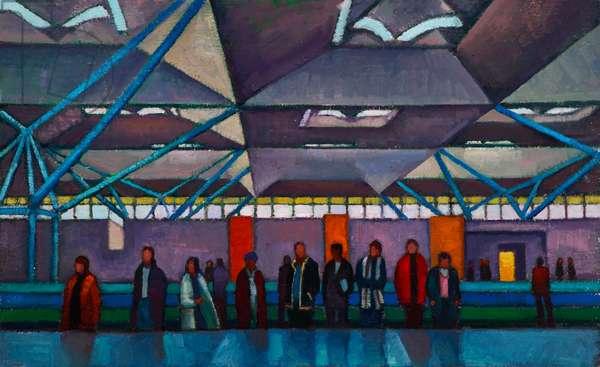Carousel (oil on canvas on board)