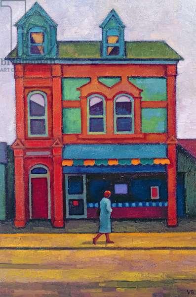 Butcher's Shop, Ebbw Vale II (oil on board)