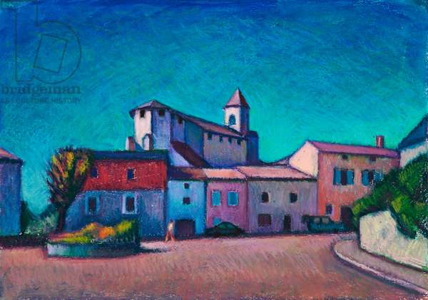 Lalbenque (oil pastel on paper)