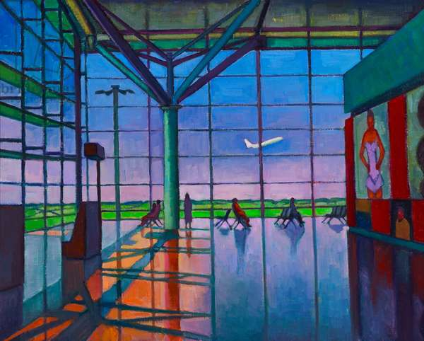 Airport (oil on canvas on board)
