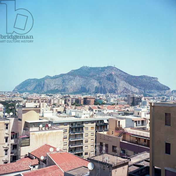 A view of Monte Pellegrino, Palermo, Sicily, Italy, August 2016 (photo)