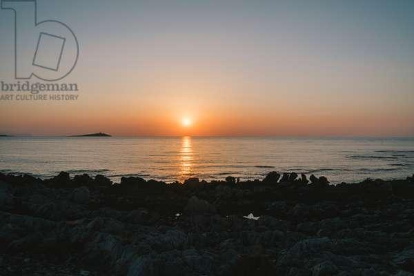 Isola delle Femmine at sunset, Palermo, August 2015 (photo)